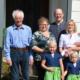 Tanja und Franz Gansch mit ihren Kindern und den Eltern von Franz