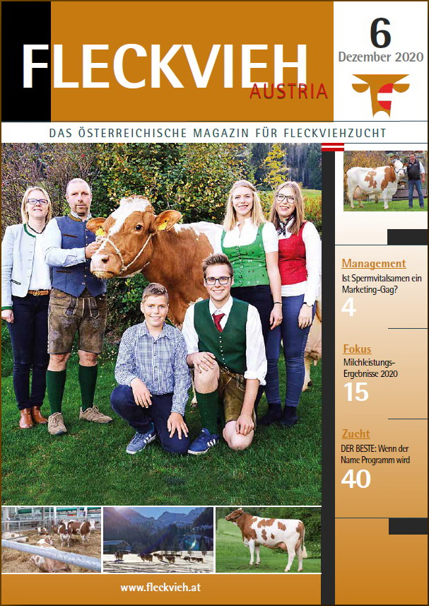Cover Fleckvieh Austria Magazin 6_2020