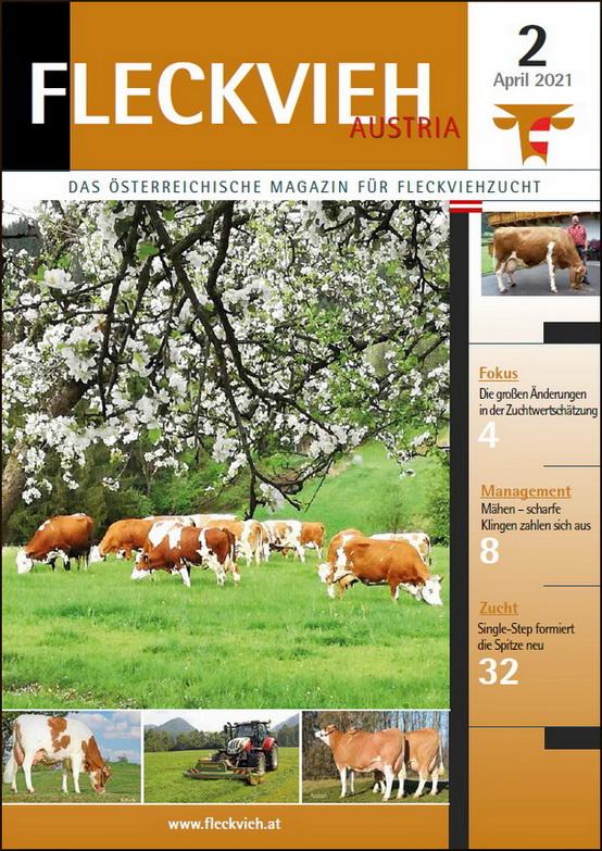 Cover Fleckvieh Austria Magazin, Probeheft 2_2021