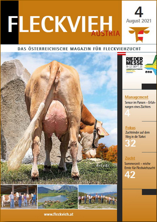 Cover Fleckvieh Austria Magazin 4_2021